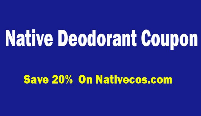 native deodorant coupon code