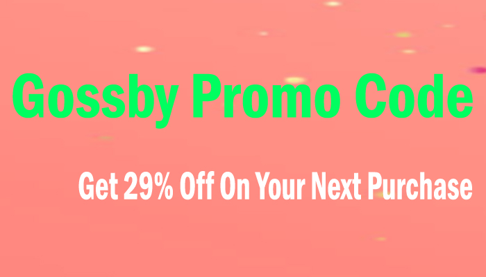 Gossby Promo Code
