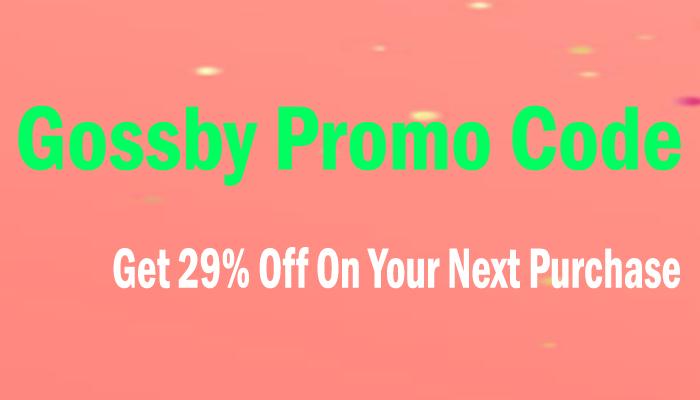 Gossby Promo Code