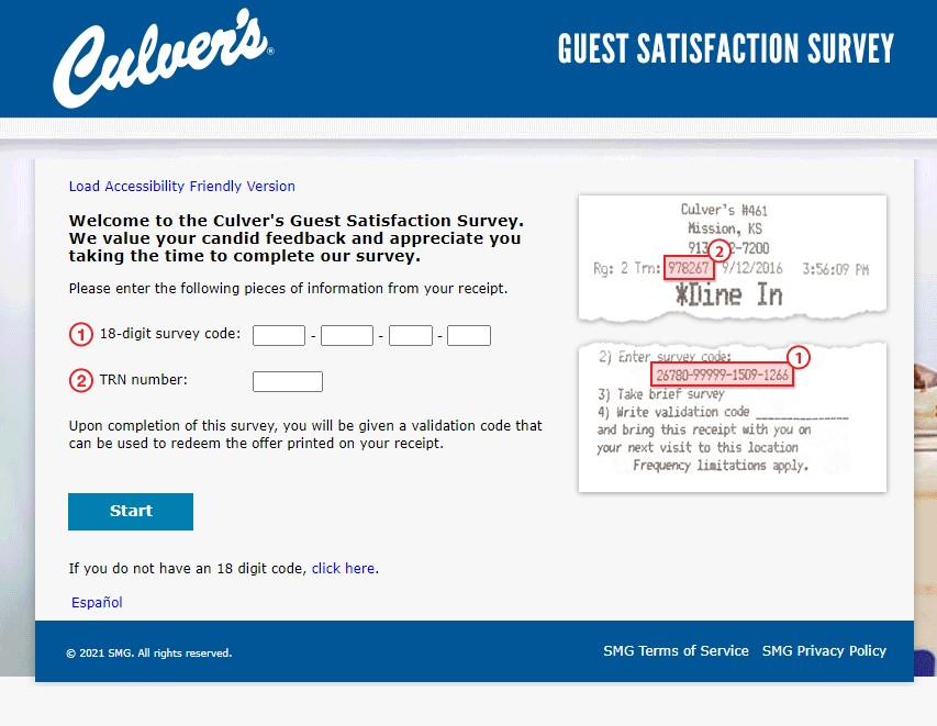How To Take Tell Culvers Survey
