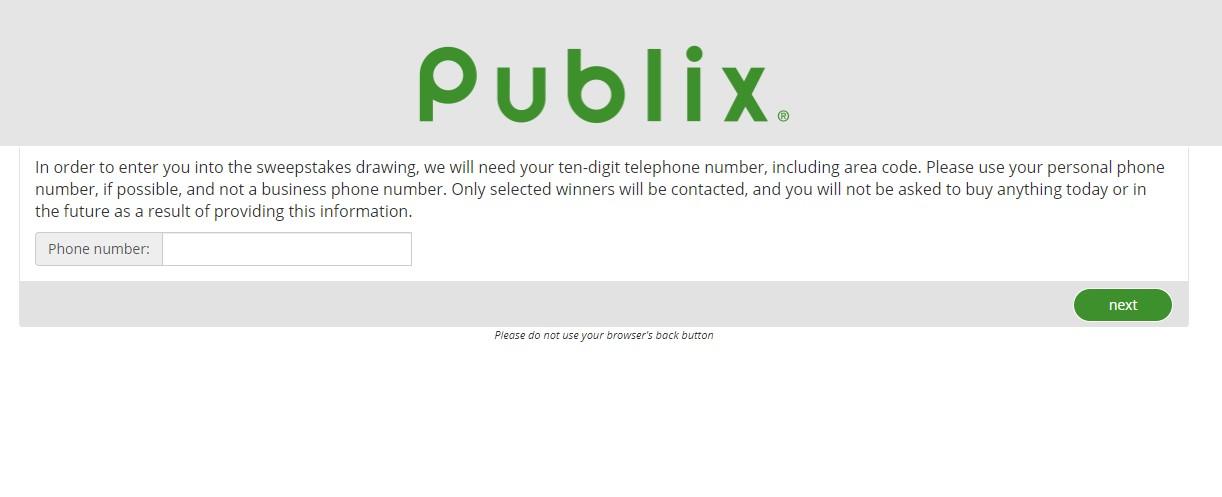 Publix Customer Feedback Survey